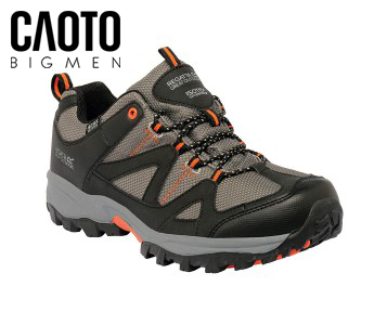 Giày Leo Núi Big Size Regatta Great Outdoors Isotex Waterproof Low Charcoal/Koi Orange RMF450