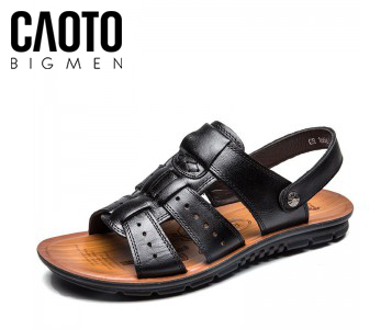 Sandal Leather Robin Đen Big Size
