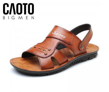 Sandal Robin Leather Nâu Big Size
