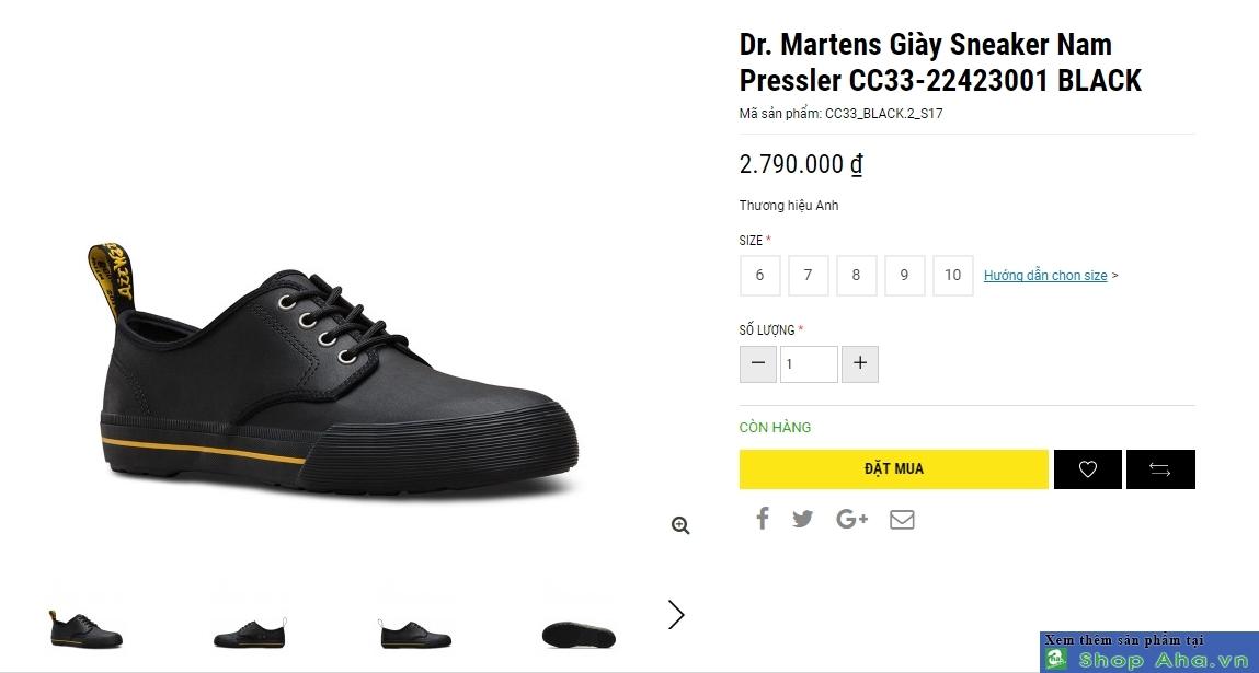giày dr marten size lớn