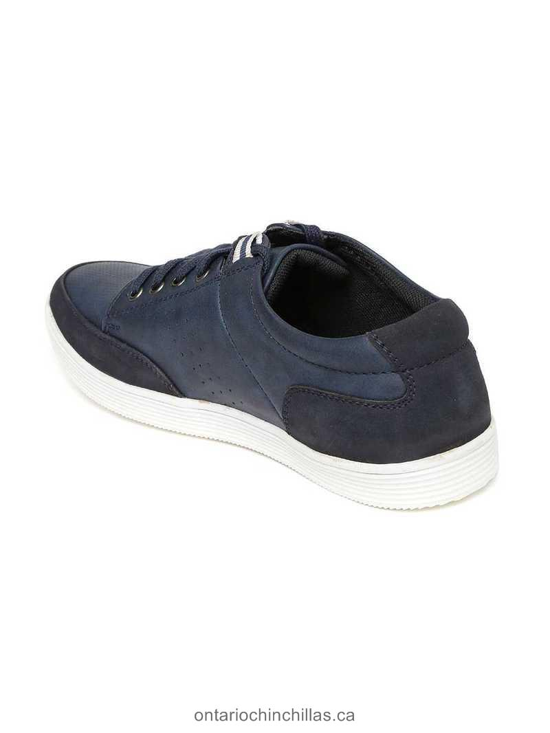 Buy Excellent Shoe Bata Men Navy Solid Stannis Sneakers - Authentic Canada Shoe Shop