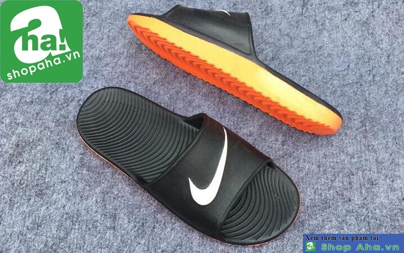 Dép Đúc Nike Màu Đen Đế Cam DDC02