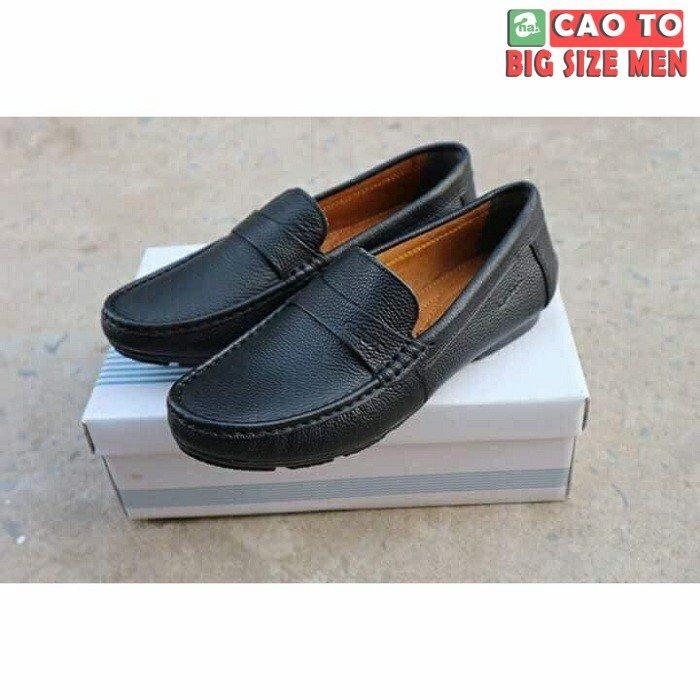 Giày lười Geox da Black bigsize