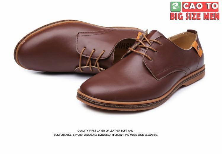 Giày Tây Big Size nâu