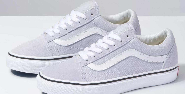 Giày Sneaker Vans Big Size Old Skool Xám Viền Trắng
