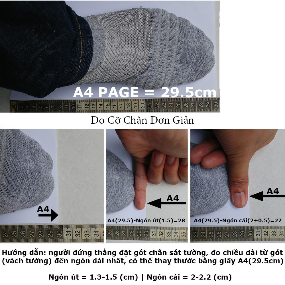 Easy to measure foot size
