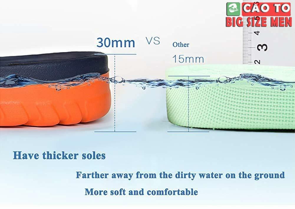 dép với chất lượng chống thấm nước