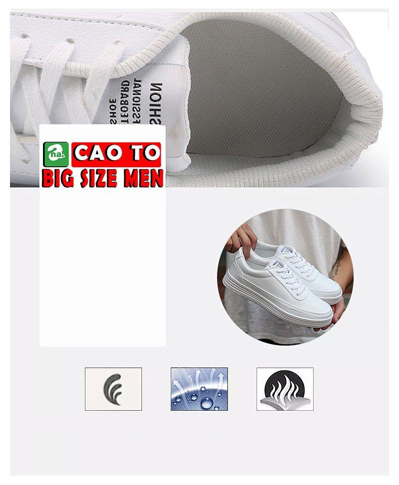 giày bata đi chơi full trắng cỡ lớn 45 46 47 48 49