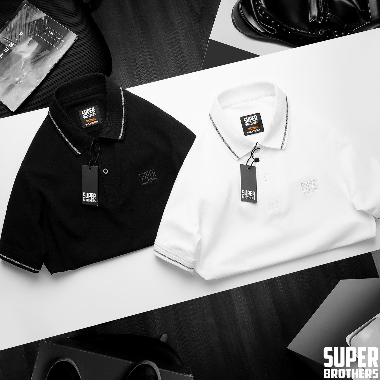 áo polo nam đen trắng sang trọng đẳng cấp big size size lớn