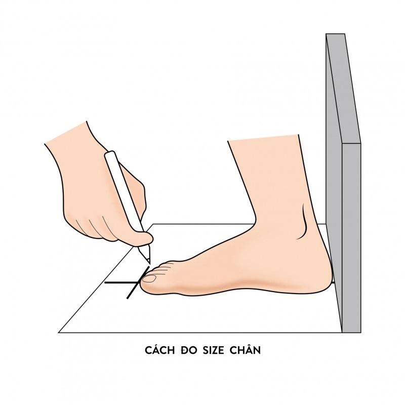 Cách đo size chân 2