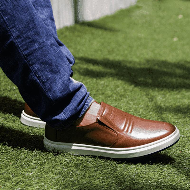 giày da kiểu dáng thể thao ngoại cỡ