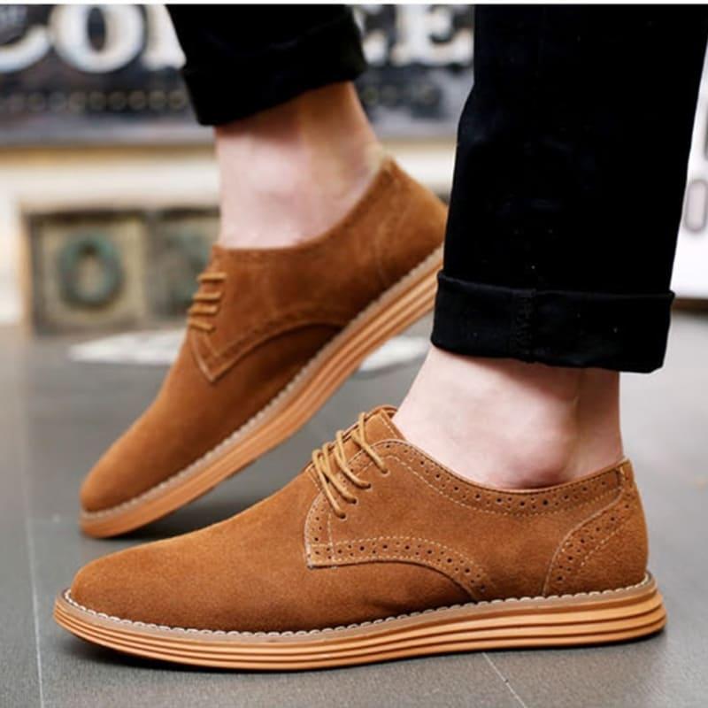 giày da lộn công sở big size nam