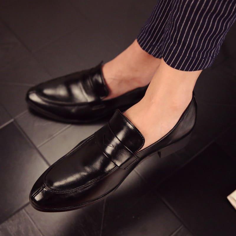 giày tây size lớn lười da bò