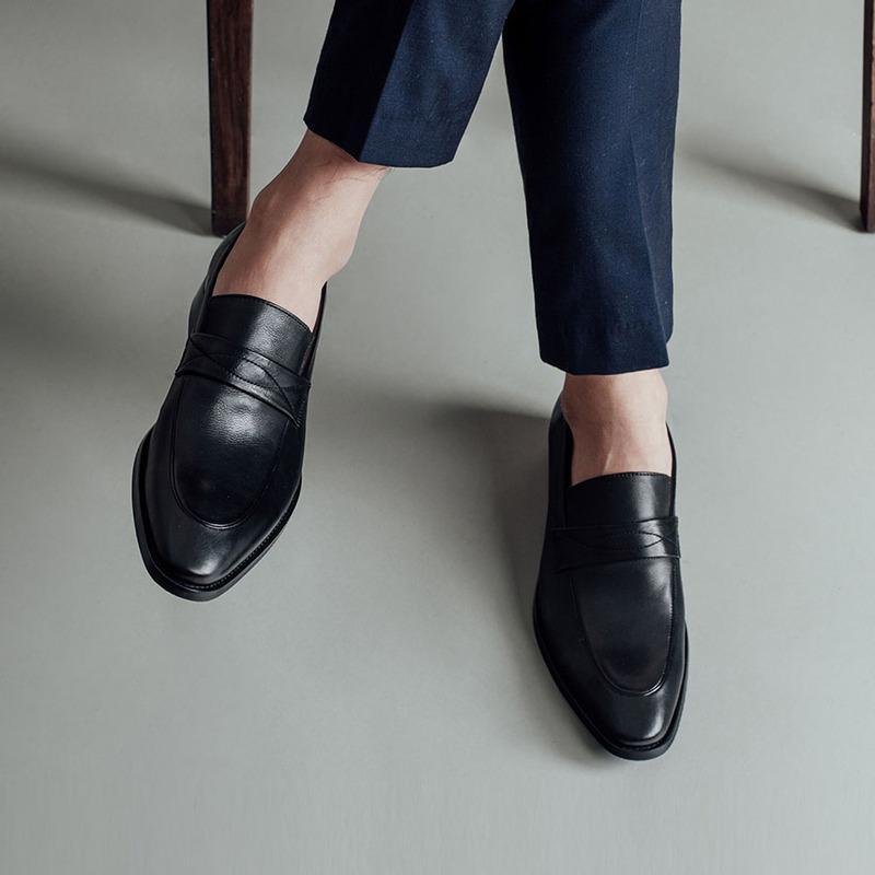 giày tây lười penny loafer ngoại cỡ