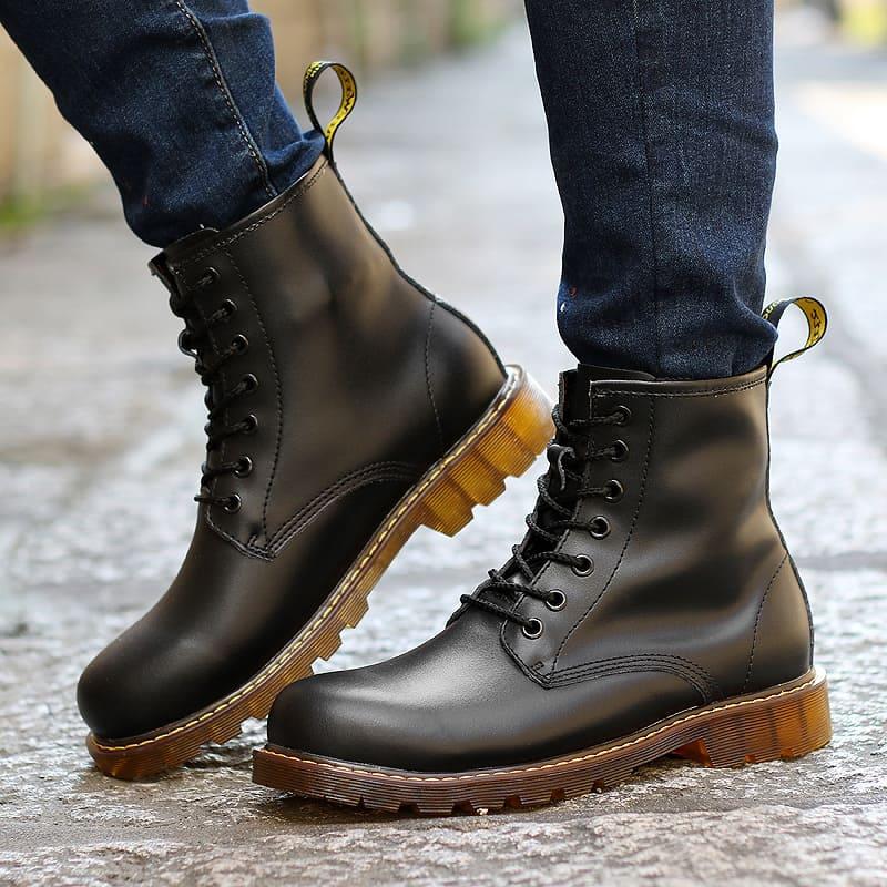 giày size lớn da cao cổ cao cấp
