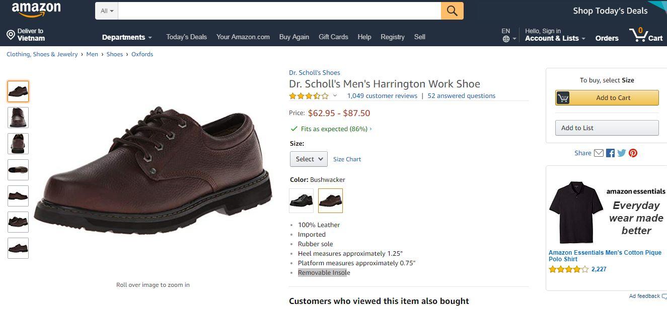 giày bigsize ngoại cỡ